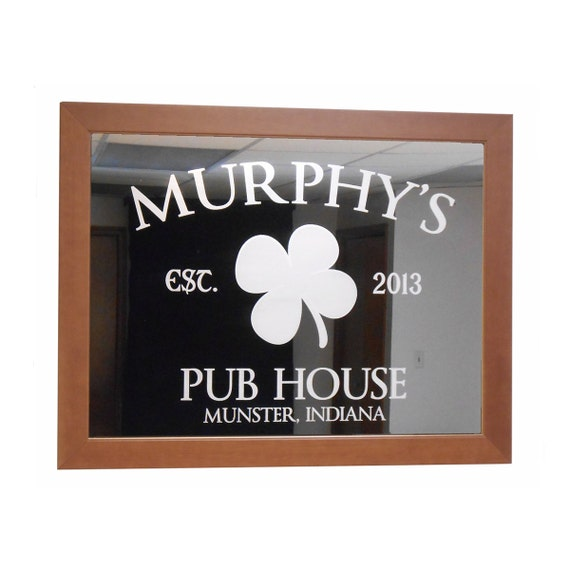 Custom bar mirror pub house 18 x 24 w by lifetimecreations for Mirror 18 x 24