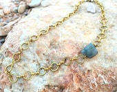 Asymetric Labradorite Necklace
