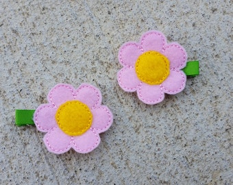 Flower Hair Clip - Spring Hair Clip - No Slip Grips