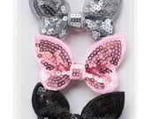 Pink Paislee Bella Rouge - Sequin Butterflies -- MSRP 4.00