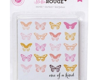 Pink Paislee Bella Rouge - Journal Cards  -- MSRP 4.00