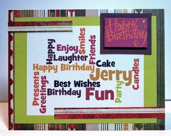 Etsy your place to buy and sell all things handmade personalized birthday card custom made handmade card greeting card card for her bookmarktalkfo Gallery
