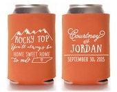 Custom Wedding Favor - Rocky Top You'll Always be Home Sweet Home to Me - Tennessee Can Coolers
