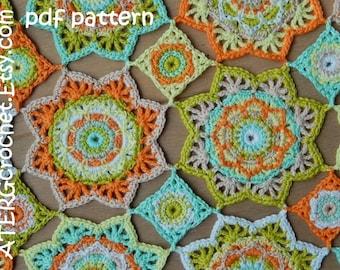 Octagon Baby Afghan Crochet Pattern : Crochet pattern baby blanket OCTAGON by ATERGcrochet