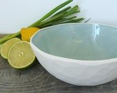 Geometric Serving Bowl, Size large, Faceted Edge, 9 color options available