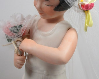 Vintage bisque bride doll from UFDC regional doll convention 1980
