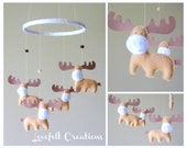 Baby Mobile - Moose Mobile -  Custom Mobile - Baby Mobile - You can pick your colors :)