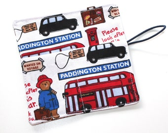 Crayon Roll Paddington Bear Bus Party Favors, London Bus Crayon Wrap holds 8 to 10 Crayons, Birthday Party Favors