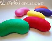 Large Plush Felt Jelly Bean - Pick your color