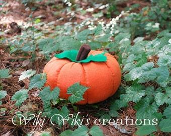 Large Plush Felt Pumpkin