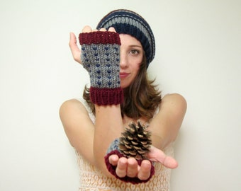 Womens Fall Gloves Knit Texting Glove Warm Ladies Wrist Warmers Crochet Hand Warmer Women Fingerless Gloves Knitted Accessories Autumn