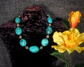 Turquoise Statement Necklace, Turquoise Nuggets, Southwest Jewelry, Ancient Jewelry, Ethnic Jewelry, Native American, Tribal Necklace