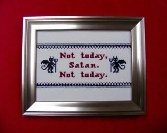 Cross-Stitch Pattern - RuPaul's Drag Race: Not Today, Satan! (PDF)