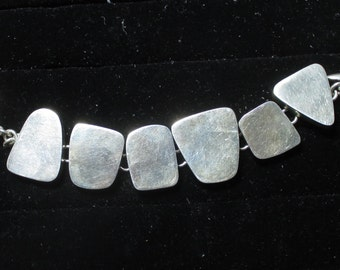 Vintage sterling silver bracelet - 57 grams - 7 inches long