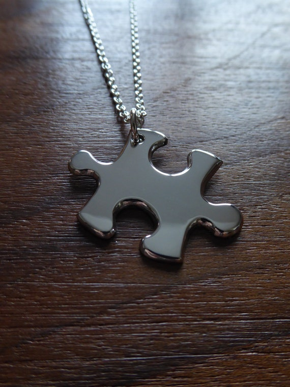 Silver Handmade Puzzle Pendant Necklace