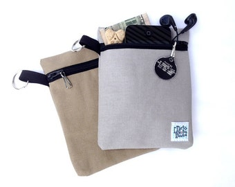 Dog Leash Accessory Pouch, Canvas Clip-on Leash Bag, Dog Treat Pouch, Poop Bag Holder
