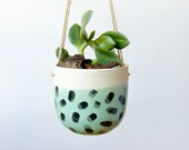 Indoor Hanging Planter Succulent Planter Cactus Air Plant Holder Ceramic Planter Gifts for Mom Mint Green Housewarming Gift for Wife Pastels
