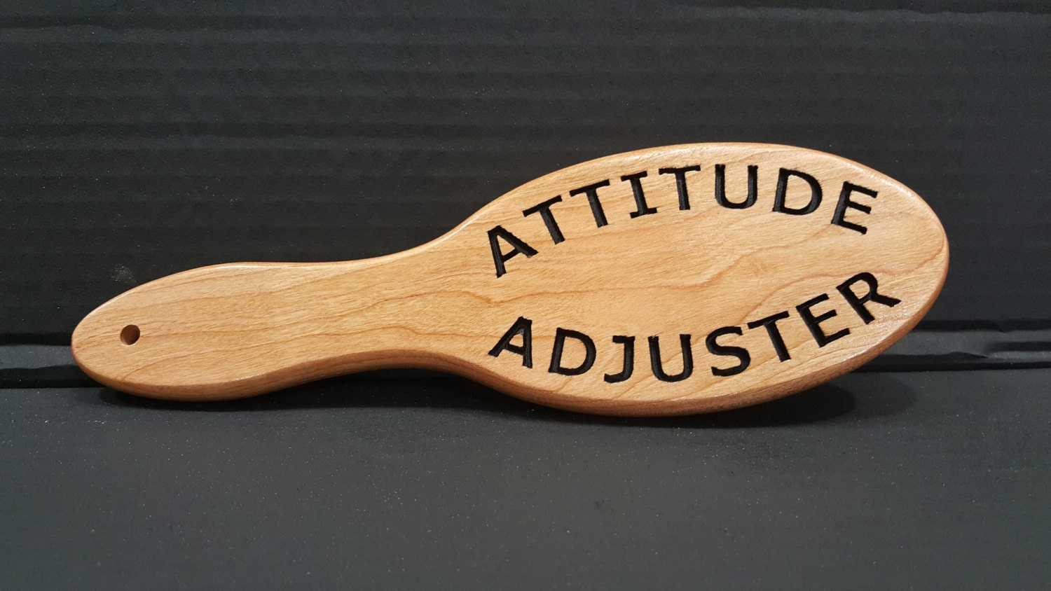 Hairbrush Paddle Attitude Adjuster High By Bassettwoodworking