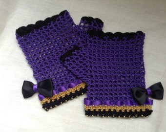 Steampunk Fingerless Purple Passion