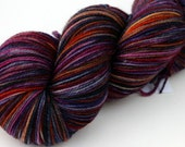 "Kettle Dyed Sock Yarn, Superwash Merino, Nylon and Stellina Fingering Weight, in ""Sea Anemone"""