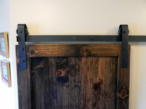 Atlanta Sliding Barn Door Hardware Black Classic Style