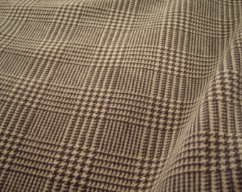 "Schumacher Smoke ""GLEN PLAID VELVET"" Italian Wool Blend Velvet Print Fabric - 66751 - Retails 288.00 yd - Below Wholesale - 2.7 yds"