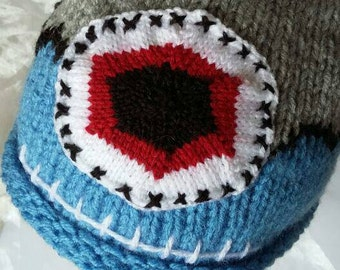 Blue and Grey Cyclops Monster Hat