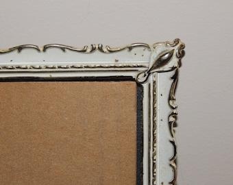 Vintage Ornate Frame 8 x 10 Gold Florentine Metal Easel Back Picture Frame 1950's Mid Century Home Decor