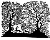 Handmade Paper Cut Silhouettes Paper cutting Chase Deer