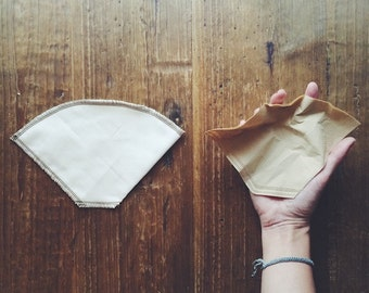 Reusable Organic Cotton Number 2 Cone style coffee filters