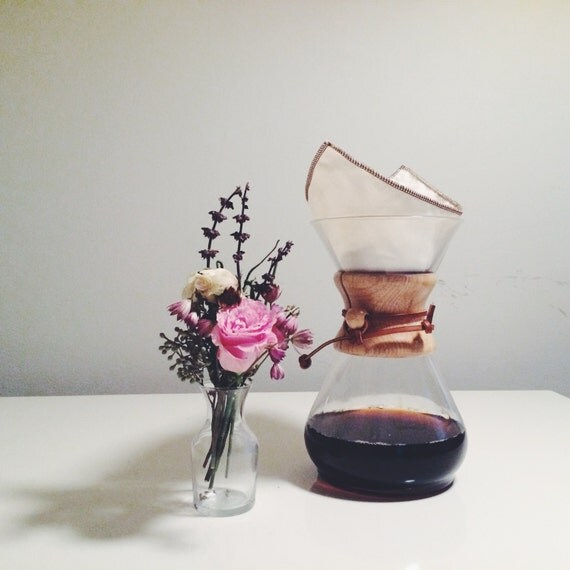 Reusable Organic Cotton Chemex style 6-10 cup filter