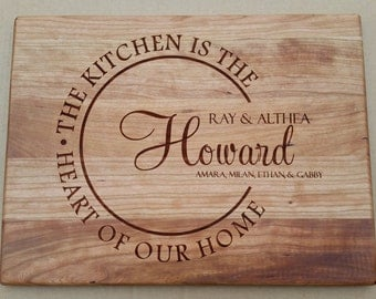 Personalized Cutting Board - Wood Chopping Block Custom Engraved Monogram Business Establishment - Choose your Wood