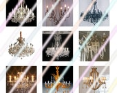 Chandeliers 1 inch Square Tile Images 4x6 Digital Collage Sheet Instant Download