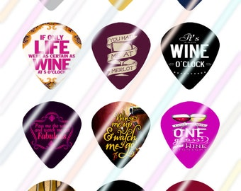 Wine Love Jazz Style Pick Images 4x6 Digital Collage Sheet Wine Love Instant Download