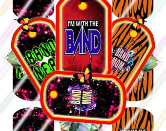 Band 2 Dog Tags Images 4x6 Digital Collage Sheet Instant Download