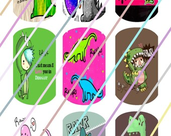 Dinosaurs Dog Tags Images 4x6 Digital Collage Sheet Instant Download