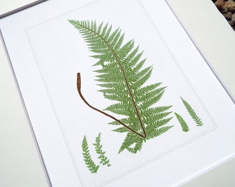 Botanical Fern Print 8 on Watercolor Archival Paper