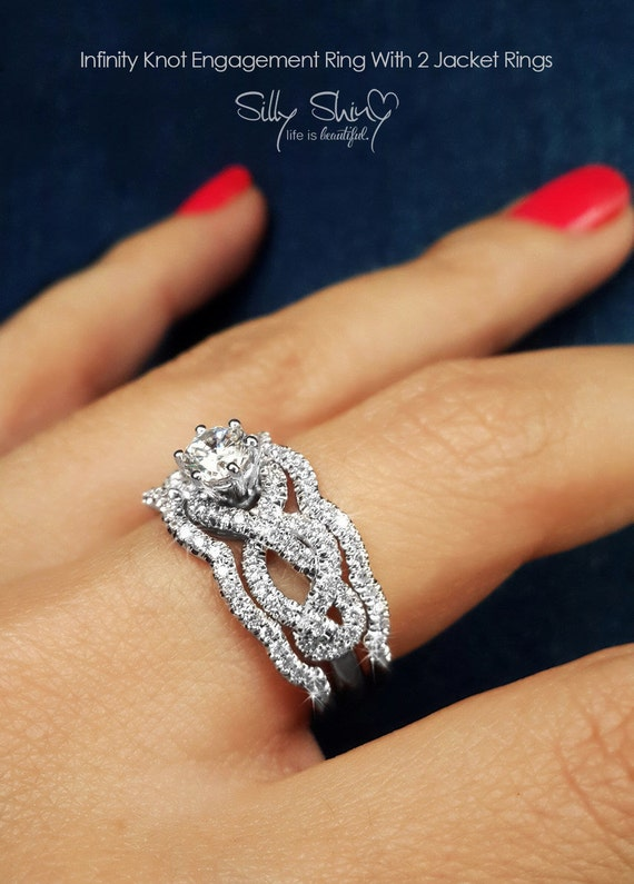 Infinity Engagement Rings Infinity Knot Engagement Ring With 2