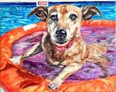 CUSTOM Pet Portrait Oil Painting 16x20 pet memorial birthday gift