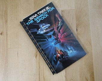 Handmade Star Trek 3 The Search For Spock 1984 Movie Re-purposed VHS Cover Notebook Journal