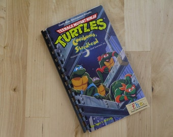 Handmade Teenage Mutant Ninja Turtles Cartoon TV Show 1988 Re-purposed VHS Cover Notebook Journal