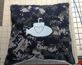 Sub baby pillow made from NWU and soft cuddly fabric 10 x10 inches