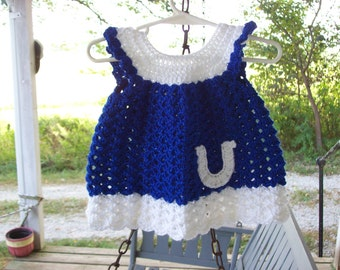 Baby,Dress,Girls,Infants,Blue,White,Gift,Photos,Clothing,Horseshoe,Newborn to 3 Months,Horses,Esquitarian,Horse Racing,Competition