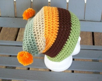 Hat,Baby,Three-Six Months,Pom-Poms,Photo Prop,Gift,Crocheted,Infant
