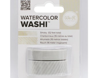 Watercolor Washi Tape in Smoky Gray Color - 2 Rolls, 52 Feet Total, from We R Memory Keepers