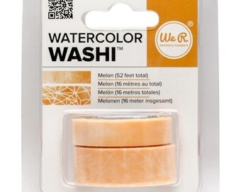 Watercolor Washi Tape in Melon Color - 2 Rolls, 52 Feet Total, from We R Memory Keepers