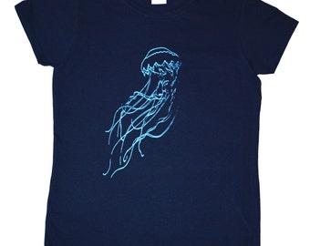 Jellyfish Screen Printed Women's T-Shirt S M L XL 2XL Shirt