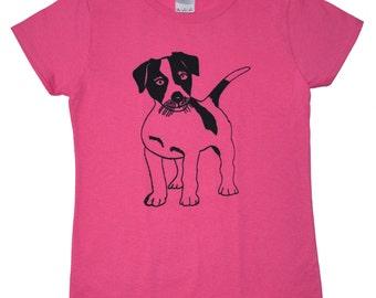 Jack Russell Terrier Screen Printed Women's T-Shirt S M L XL 2XL Puppy Shirt