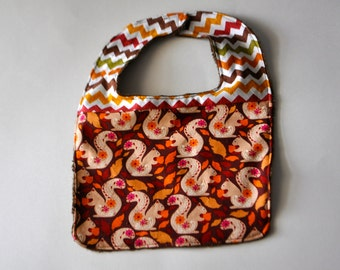 Thanksgiving Baby bib, Squirrel baby bib, squirrel bib, Fall bib, Fall baby bib, Thanksgiving bib, thanksgiving baby bib, Chevron baby bib