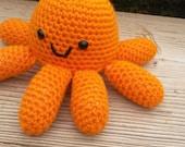 Orange Octopus Crochet Amigurumi Stuffed Aminal